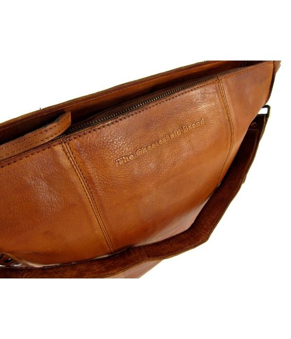 Chesterfield Damestas Hobo Large LARIN Black label Hi vig Cognac