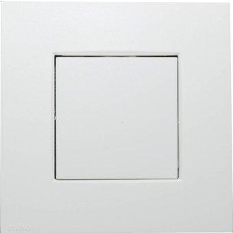 Niko Druktoets + afdekplaat voor een Niko drukknopdimmer (310-02801) Kleur: Wit.