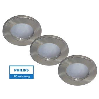 Philips 3 st. badkamer inbouwLEDspot 12V 4W arm+spot (IP65)