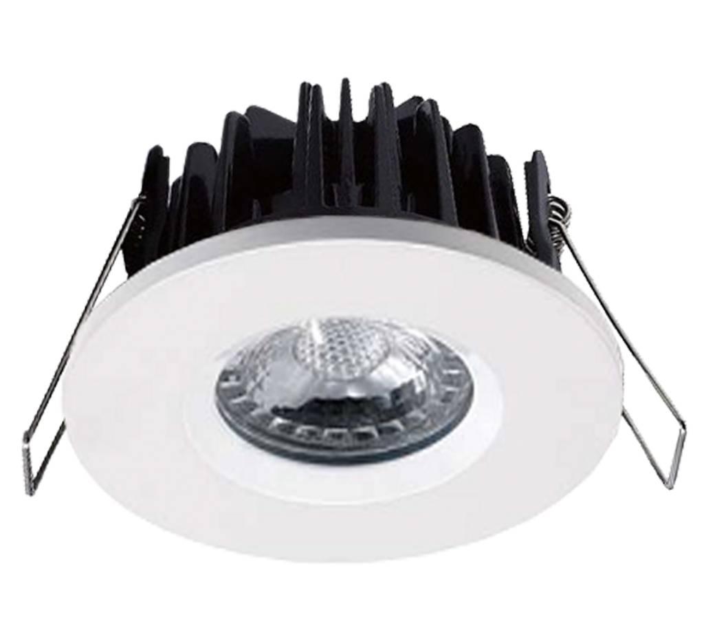 Witte badkamer Inbouwspot LED Kreta 8W, dimbaar (IP65) - 123ledspots