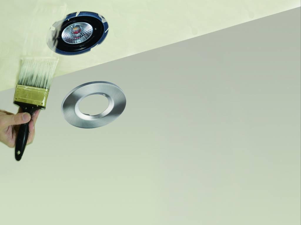 Set 6x Witte Badkamer Inbouw LED spot Kreta 8W, dimbaar (IP65 ...