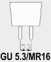 GU 5.3/MR16 fitting.