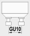 GU10 fitting.