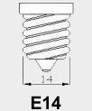 E14 fitting.