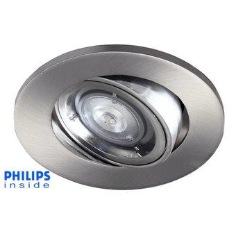 Philips led inbouwspot 4w dimbaar en kantelbaar 123ledspots for Led verlichting spots dimbaar
