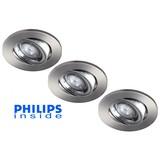 Philips 3 stuks inbouwledspot 5,5W dimbaar en kantelbaar