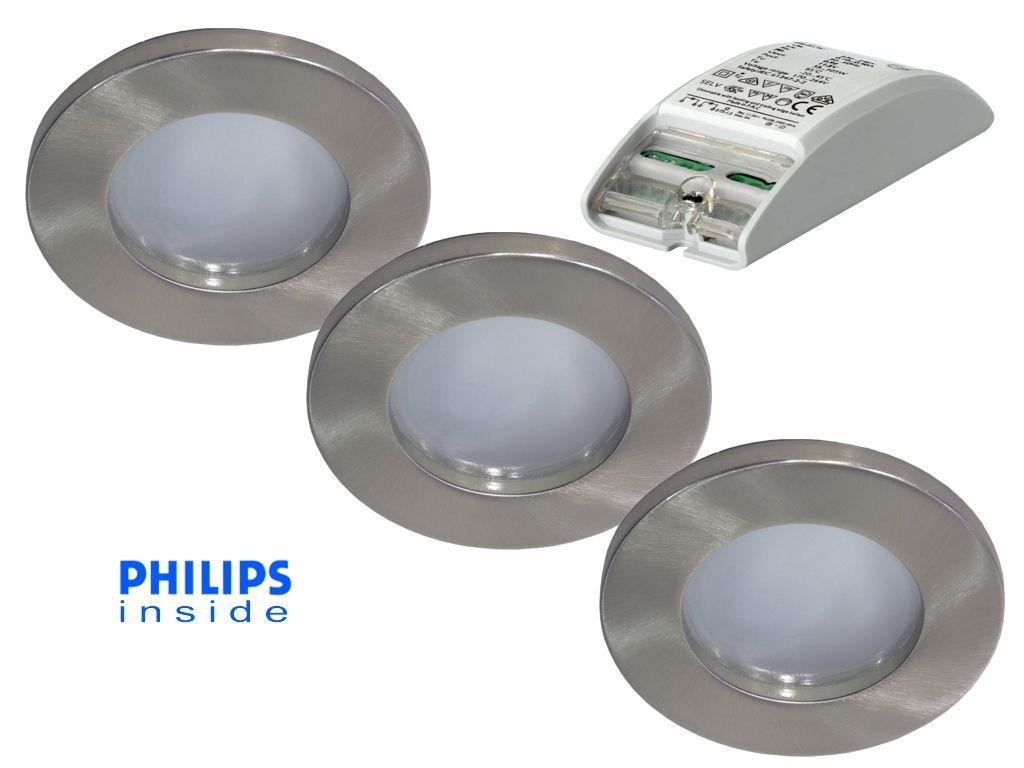 Philips complete set van 3 stuks badkamer inbouwledspot - Spot led ip65 12v ...