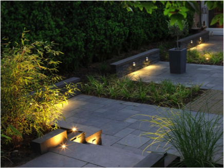 Led Lampjes Tuin : Tuin trap verlichting: led spots voor in de tuin.