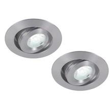 Set van 2 stuks dimbare mini inbouw LED spot, warm wit, 3 Watt kantelbaar