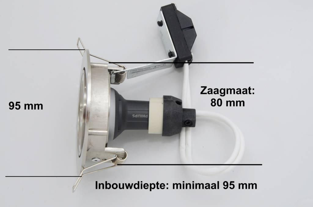 Philips LED inbouwspot 4,9W (50W), dimbaar en kantelbaar - 123ledspots
