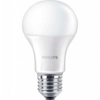 Philips LED lamp, 8 Watt, Warm wit, grote fitting E27. Deze ledlamp vervangt een gloeilamp van ca. 60 Watt