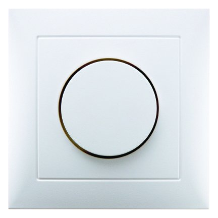 berker afdekplaat met regelknop voor draaidimmer polarwit glanzend 123ledspots. Black Bedroom Furniture Sets. Home Design Ideas