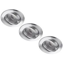 Set van 3 stuks LED inbouwspot PORTO, 5 W (50W), dimbaar en kantelbaar
