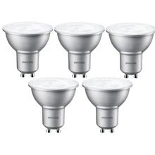 Philips Set van 5 LED spots 4W, GU10, Dimbaar, Warm Wit (vervangt 50W)