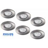Philips Set van 6 stuks LED inbouwspot 4,3W (50W), dimbaar