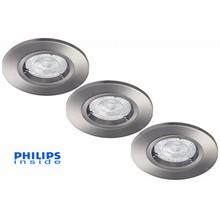 Philips Set van 3 stuks LED inbouwspot 4,3W (50W), dimbaar