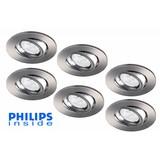 Philips Set van 6 stuks LED inbouwspot 4,3W (50W), dimbaar en kantelbaar