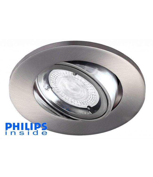Philips LED inbouwspot 4,9W (50W), dimbaar en kantelbaar