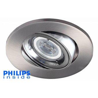 Philips LED inbouwspot 4,4W (35W), dimbaar en kantelbaar