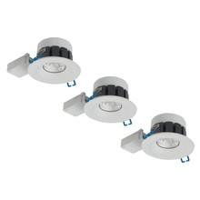 Complete set van 3 spots 8 W, IP65 badkamer LED spots Venetië,witte uitvoering, Dimbaar
