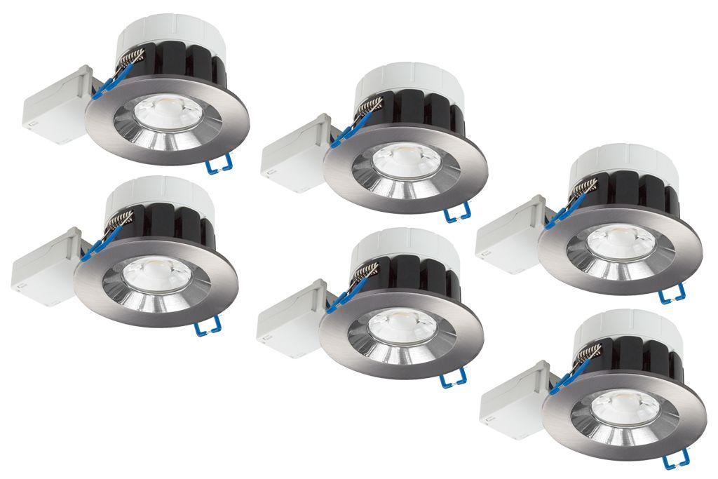 Led Inbouwspots Badkamer : Complete set van 6 spots 8 watt ip65 badkamer led spots venetië
