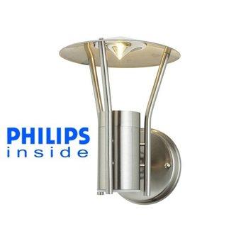 Philips Tuin Wand LED Lamp, Geborsteld RVS