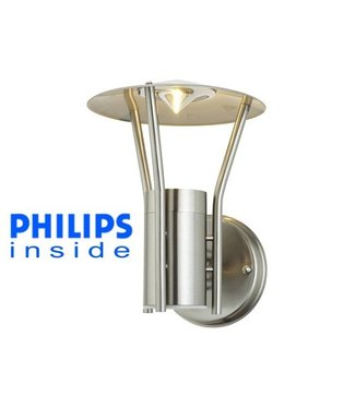 Philips Tuin Wand LED Lamp, Geborsteld RVS