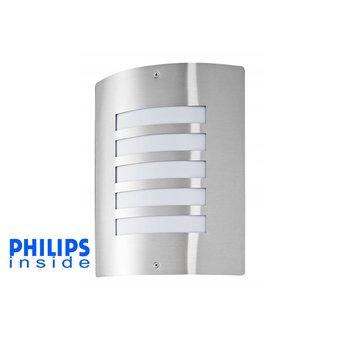 Philips Tuin Wand LED Lamp, 5 Watt, RVS
