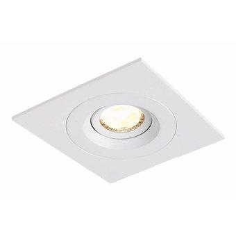 LED inbouwspot Amsterdam 8W, dimbaar en 360 graden richtbaar, in een mat witte en vierkante uitvoering