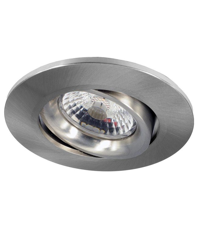 Inbouw LEDspot Parijs, Warm wit licht, dimbaar, 8 Watt, kantelbaar, RVS