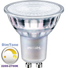 Philips DIMTONE LEDspot 3,7W, GU10, 2200-2700K, Dimbaar, Warm Wit (35W vervanging)