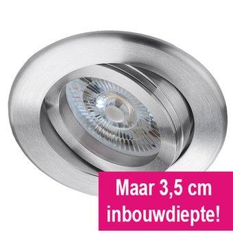 LED inbouwspot 6 Watt, dimbaar, met lage inbouwdiepte, warmwit licht