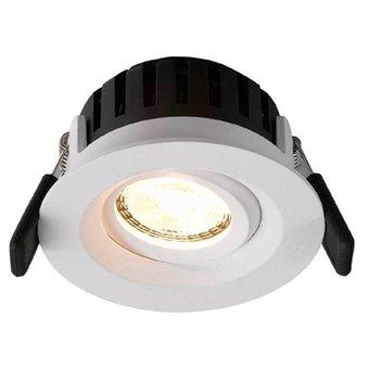 LED inbouwspot Amsterdam 8W, dimbaar en 360 graden richtbaar, in een mat witte en ronde uitvoering