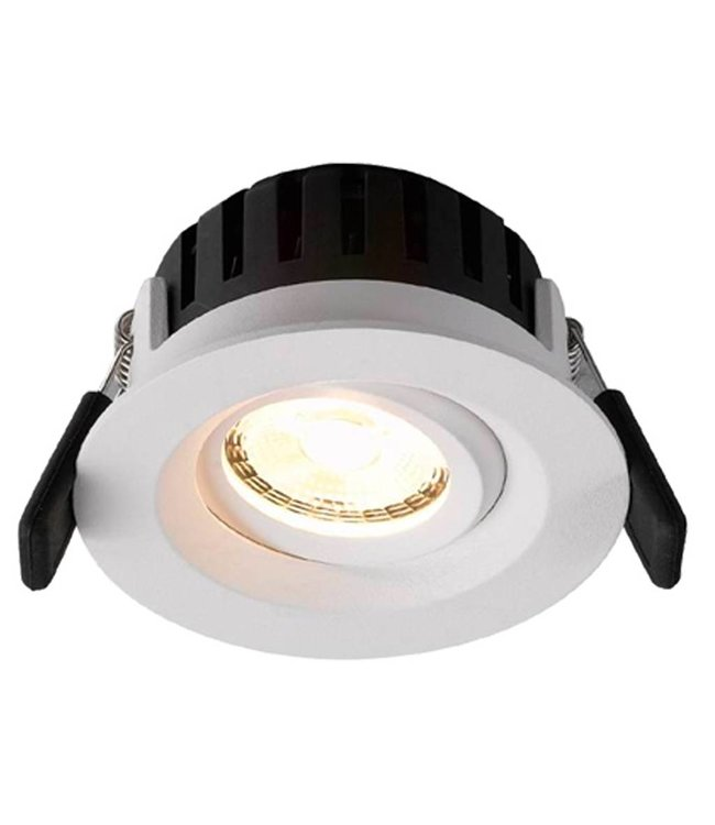 LED inbouwspot Amsterdam 8W, dimbaar en 360 graden richtbaar (rond)