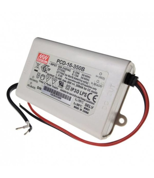 Meanwell Led driver Constant Current 350 mA 24-48Vdc, dimbaar