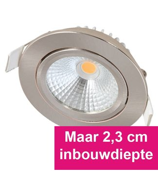 Inbouw Ledspot Star RVS, 5 Watt, Dimbaar Warm Wit IP54