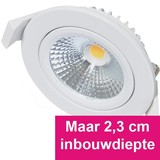 Inbouw Ledspot Star Wit, 5 Watt, Dimbaar Warm Wit IP54