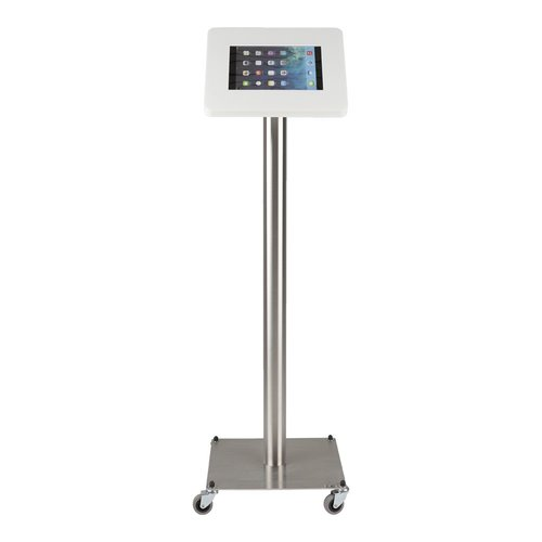 Tabletsolution iPad RVS Vloerstandaard met wielen