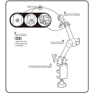 Joy Factory MagConnect™ C-Clamp Mount Dual (Mount Only)