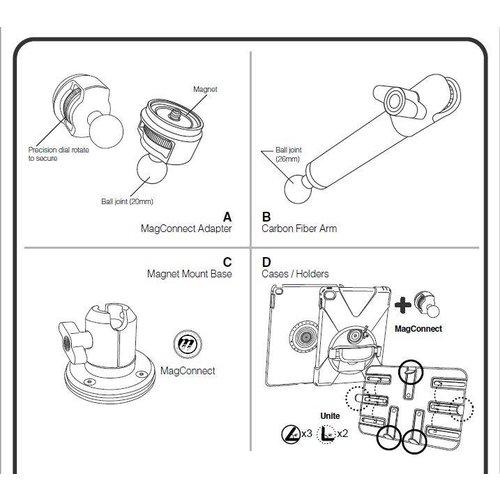 Joy Factory MagConnect Carbon Fiber Magnet Mount