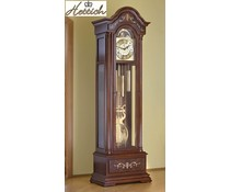 Hettich Uhren Exclusive Grandfather Clock No.38-50 walnut lacquered with inlaid marquetry made in the Black Forest