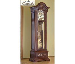 Hettich Uhren Exclusive Grandfather Clock No.38-50 walnut lacquered with inlaid marquetry in the Black Forest made Dimensions: 208x65x35cm