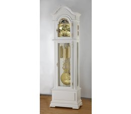 Hettich Uhren 47 grandfather clock painted white Hermle chain drive 3 tunes in the Black Forest made Dimensions: 208x65x35cm