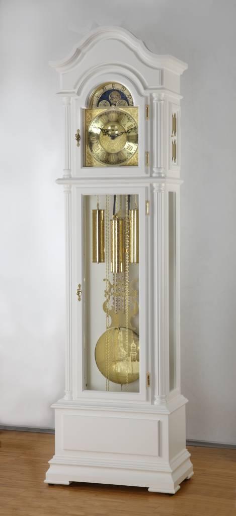 Hettich Uhren 47 Grandfather Clock Painted White Hermle