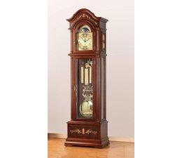 Hettich Uhren Exclusive Standuhr Nr.40 nußbaum lackiert mit Intarsien Einlegearbeiten im Schwarzwald hergestellt Maße:208x65x35cm