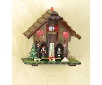 Trenkle Uhren Weer huis nr. 811 handgeschilderd gemaakt 18cm hoog in het Zwarte Woud