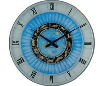 Hettich Uhren Sehr exclusive verarbeitete Wohn Design Uhr Sternzeichen 60cm Glas mit Quarzwerk Nr 4408