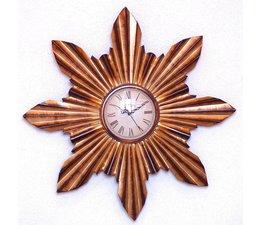 Hettich Uhren Wohn Design Uhr Sonne  Neu aus Schmiedeeisen mit Quarzwerk   Aufwendig gearbeitete Wanduhr im klassichen Stil   mit Quarzwerk Größe : 60 cm HTO2219