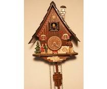 Trenkle Uhren Kuckucksuhr mit Hexenhaus-Hänsel&Gretel 23cm mit Quarzwerk und automatischer Nachtabschaltung