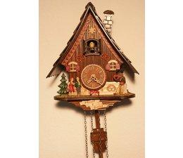 Trenkle Uhren Kuckucksuhr 23cm  im Schwarzwald hergestellt mit Quarz-Laufwerk und Kuckuckruf mit automatischer Nachtabschaltung